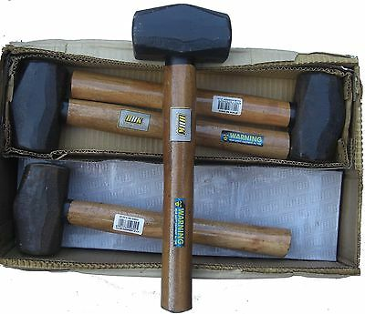 2 Kg Club Hammer Lump Hammer With Wooden Handle 8 Pcs In Job Lot Professional