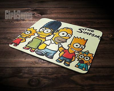 Gaming Mouse Mat - PC - Laptop Laser Mouse - simpsons cartoon effect - gift idea