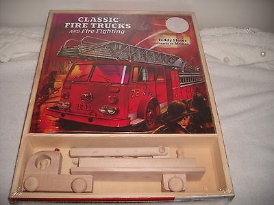 New Classic Fire Trucks And Fire Fighting Book And Wooden Truck By Teddy Slater