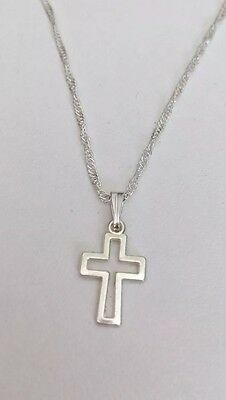 Children's Small Hollow Cross Necklace  Religious Communion