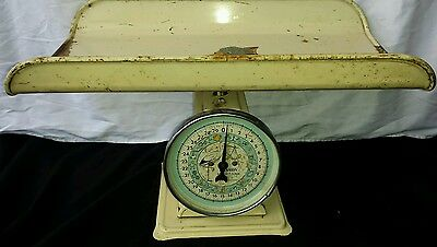 Vintage HANSON  Baby Scale Nursery Stork scale face 30 Lbs Capacity