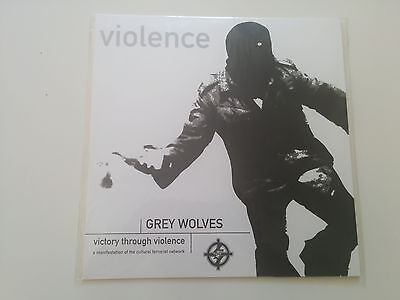 THE GREY WOLVES Victory Through Violence LP ltd.188 Genocide Organ Con-Dom noise