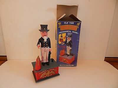1974 Old Time Uncle Sam Mechanical Coin Bank #8470