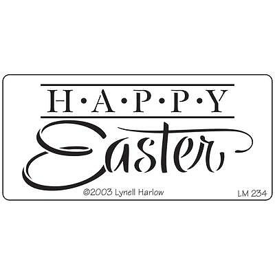 Stampendous Dreamweaver Stencil  Happy Easter DWLM234