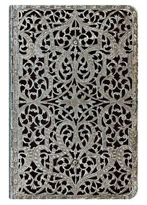 "Paperblanks ADDRESS BOOK Silver Filigree ""Shadow"" Mini 3¾ x 5½"" Address Book"
