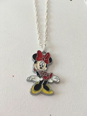 Full Body Minnie Mouse Child's Necklace Red