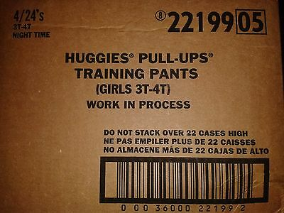 BULK CASE of 96  HUGGIES PULL UPS GIRLS Training Pants NIGHT TIME Size 3T-4T