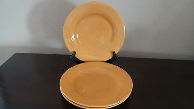 Tabletops Unlimited Boulevard Honey Colored Dinner Plates x 3