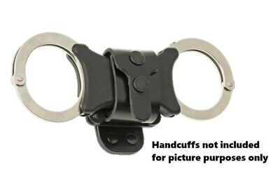 Klick Fast Leather Handcuff Dock P200 - Police Military Officer Speedcuffs PCSO