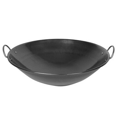 """26"""" Commercial Curved Rim Wok Ideal For Deep Fry Prawn Crackersamosa Spring Roll"""