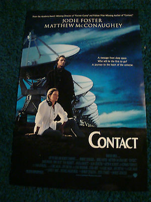 Contact - Movie Poster With Jodie Foster And Matthew Mcconaighey