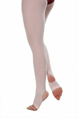 Capezio 145C Girl's Medium/Small Ballet Pink Hold and Stretch Stirrup Tights