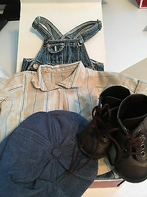 American Girl Kit Hobo Overalls Outfit NEW IN  BOX Excellent Condition RETIRED