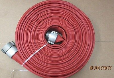 """RED Nitrile 2.5"""" x 50' Hose with Aluminum Couplings"""