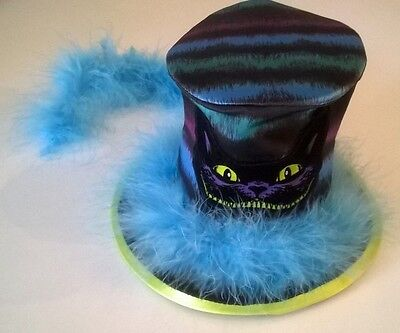 Mad Hatter Hat from Disney Parks Cat Halloween Feathers Costume Multi-colored