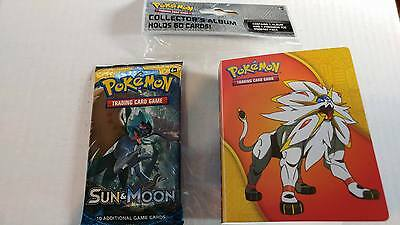 POKEMON - Sun & Moon - 1 Booster Pack & Mini Album Holds 60 Cards