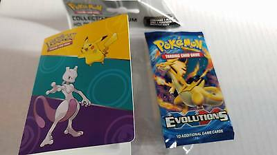 POKEMON - XY12 - 1 Booster Pack & Mini Album Holds 60 Cards