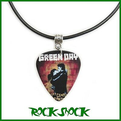Green Day Guitar Pick Necklace Pendant Plectrum Punk Rock 21th Century Breakdown