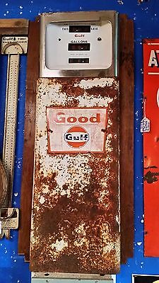 Unusual Man Cave Sign Made from Vintage Good Gulf Gas Pump Parts