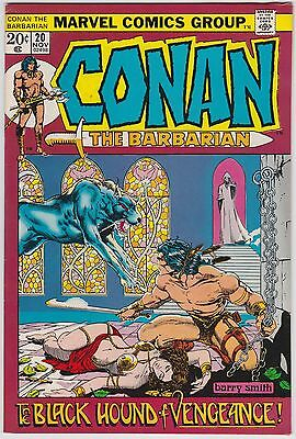 Conan The Barbarian #20 F-VF 7.0 Black Hound Of Vengeance Barry Smith Art!