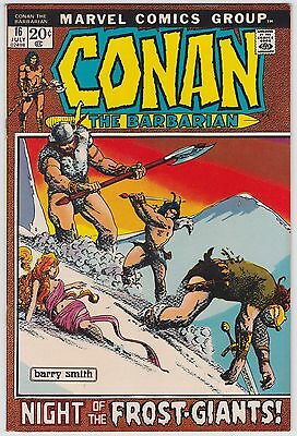 Conan The Barbarian #16 VF-NM 9.0 Night Of The Frost Giants Barry Smith Art!