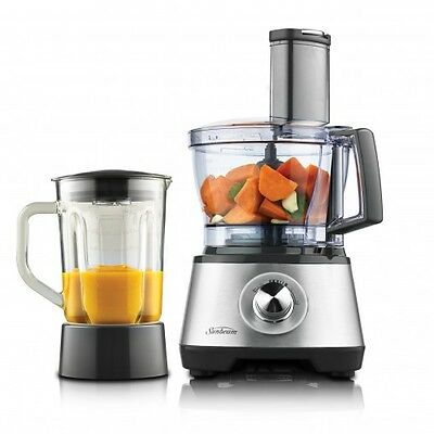 New Sunbeam Multiprocessor Compact Duo Food Processor With Blender Lc6000
