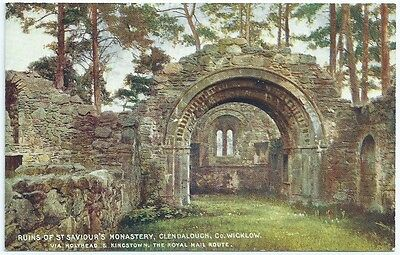 Vintage Postcard.Ruins Of St. Saviour's Monastery. Glendalough .Unused. Ref:5/70