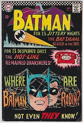 Batman #184 VG+ 4.5 Robin Mystery Of The Missing Manhunters 1966!