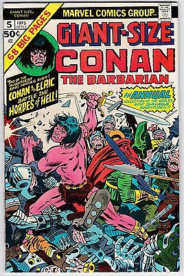 Giant-Size Conan The Barbarian #5 VF-NM 9.0 Elric Barry Smith Art!
