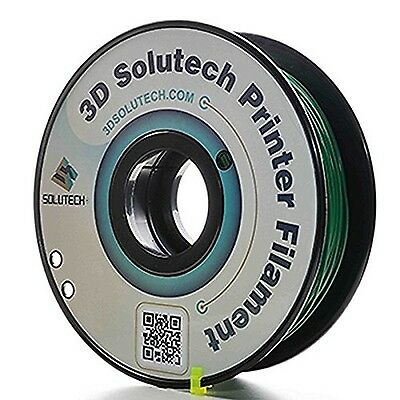 3D Solutech 1.75mm ABS 3D Printer Filament Real Green 2.2 LBS (1.0KG) - MADE ...