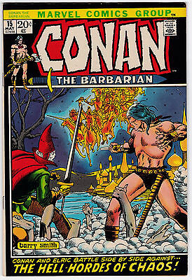 Conan The Barbarian #15 VF 8.0 Barry Smith Art Second Elric!