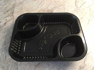 Nacho Tray, (MEXICASA) 3 well boat Black, 100 per package