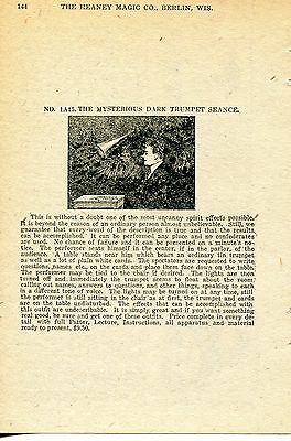 1924 small Print Ad of The Mysterious Dark Trumpet Spirit Seance