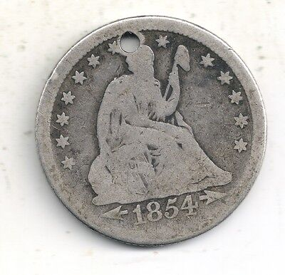1854-O Seated Liberty Quarter 90% Silver