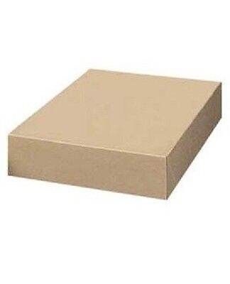 """Boxes Gift 50 Kraft 19"""" x 12"""" x 3""""  Cardboard  Retail Store Robes Jackets"""