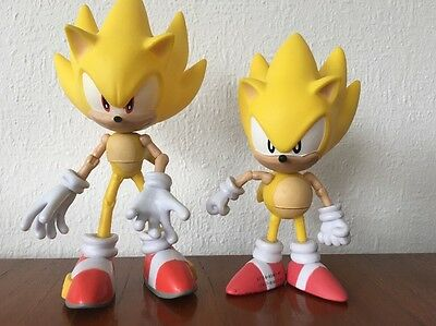 "Sega Jazwares 2015 Sonic The Hedgehog 7"" Super Sonic Figure. V RARE!! 20th Anniv"