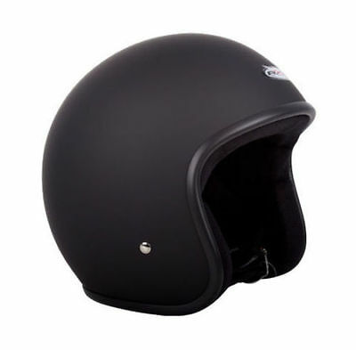 Large OPEN FACE RXT A611C LOW-RIDE HELMET, MATT BLACK, NO STUDS,AS1698 APPROVED