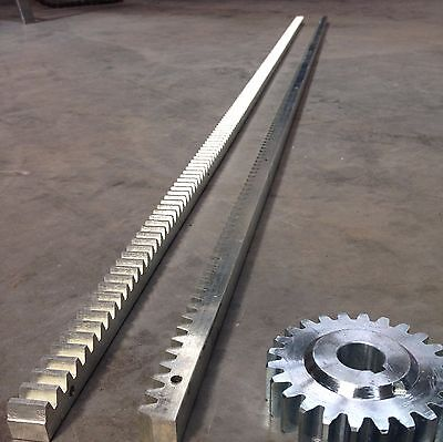 Steel Rack and Pinion Mod 4.0 - 2m Length -Hardened Steel - Pinion Sold Seperate