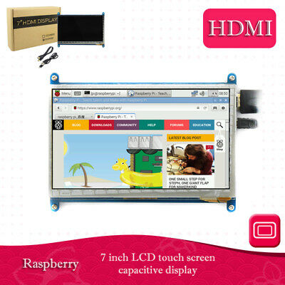 7 Zoll kapazitiv Touch Screen HDMI TFT LED LCD Display für Raspberry Pi/B/Pi2#