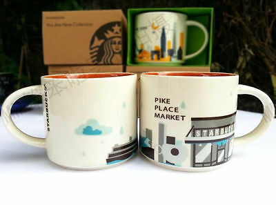 Starbucks PIKE PLACE MARKET You Are Here Coffee Mug Cup YAH Collection NEW