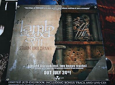 LAMB OF GOD VII: STURM UND DRANG XXL Official Banner, Poster, Flag / Opeth Ulver