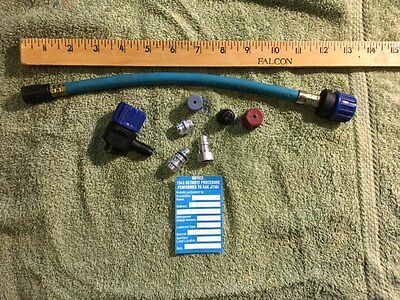 R-12 to R-134A RETROFIT ADAPTER  FITTING KIT & Hose