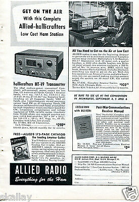 1948 Print Ad of Allied Radio Hallicrafters HT19 & HT17 Transmitter HT 19 17