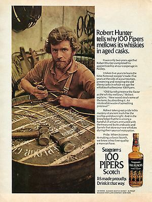 1972 Seagram's 100 Pipers Scotch Whisky Print Ad