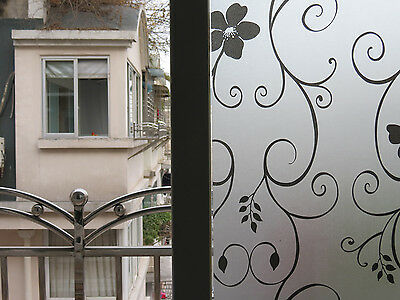 Removable Waterproof PVC Privacy Frosted Glass Window Film Dandelion Stickers 1x