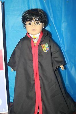 "Authentic American Girl boy  doll 18"" Black Hair & brown  Eyes with Harry Potter"