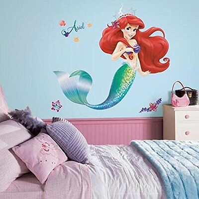 Wall Stickers Murals RoomMates RMK2360GM The Little Mermaid Peel and Stick Giant