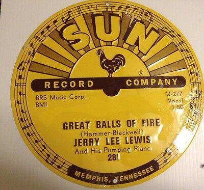 Jerry Lee Lewis - Great Balls Of Fire  - Sun Records Sign