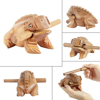 Child Wooden Frog Musical Toy Instrument Percussion Natural Sound Relaxing Toys