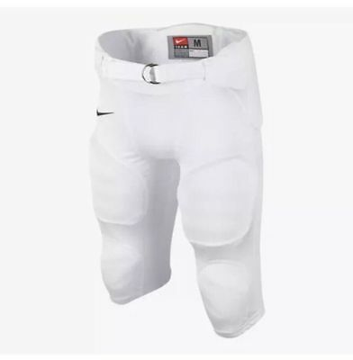 Nike Youth Recruit MEDIUM Football Pants WHITE Removable Integrated Pads NWT